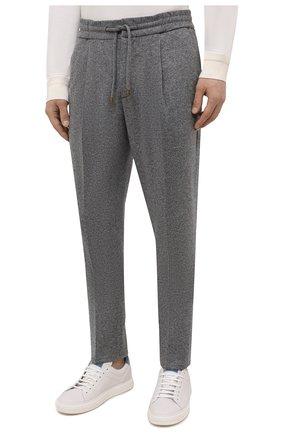 Мужские кашемировые брюки BRUNELLO CUCINELLI серого цвета, арт. ML896E1790 | Фото 3