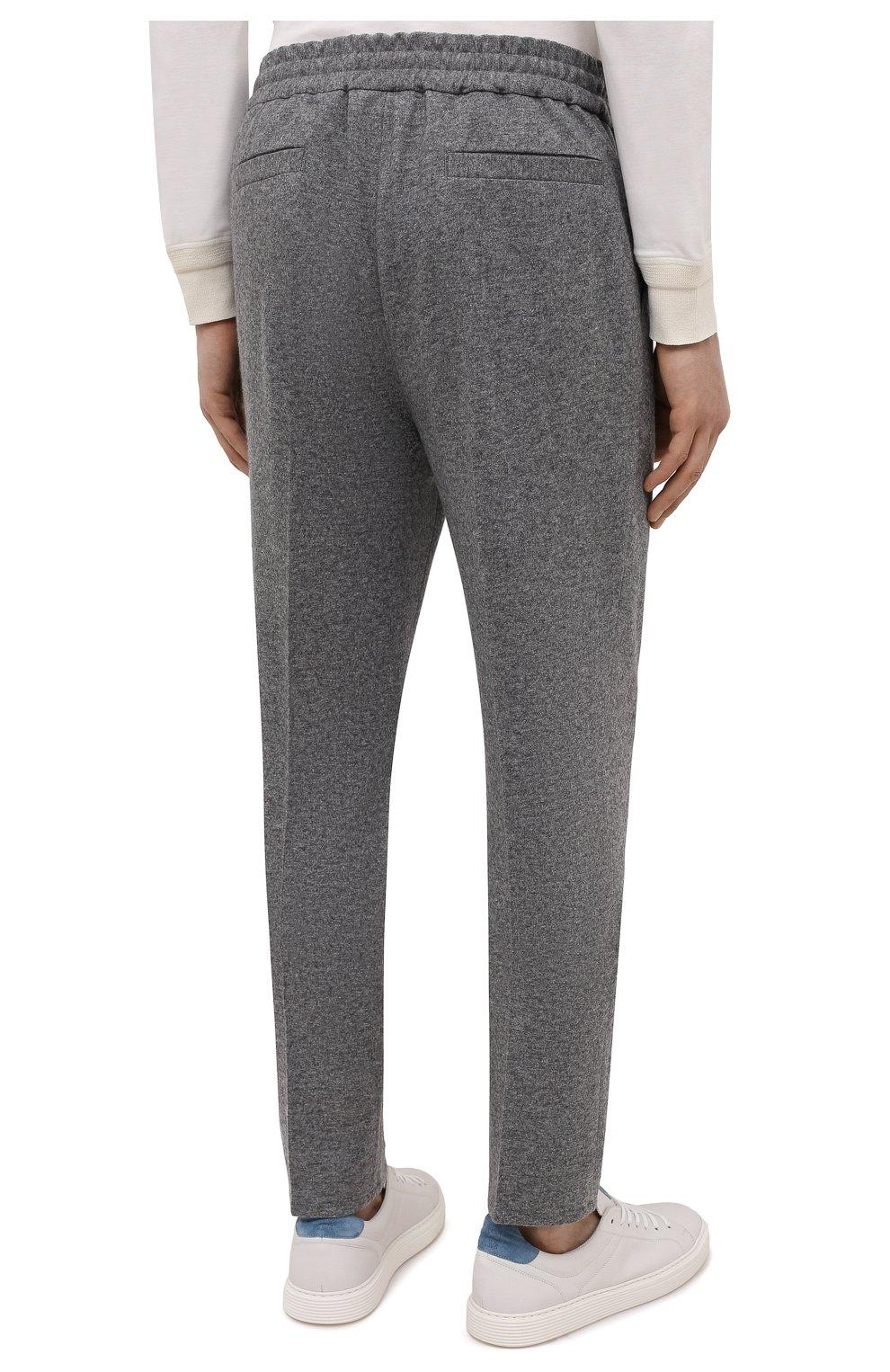 Мужские кашемировые брюки BRUNELLO CUCINELLI серого цвета, арт. ML896E1790 | Фото 4
