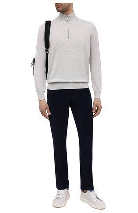 Мужской кашемировый джемпер BRUNELLO CUCINELLI светло-серого цвета, арт. M2200124 | Фото 2