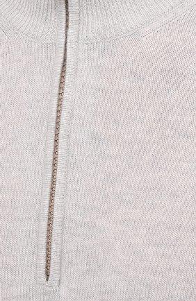 Мужской кашемировый джемпер BRUNELLO CUCINELLI светло-серого цвета, арт. M2200124 | Фото 5