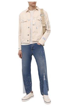Мужская джинсовая куртка lanvin x gallery dept  LANVIN кремвого цвета, арт. RM-JA0035-4391-E21 | Фото 2