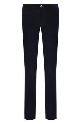 Мужские хлопковые брюки LORO PIANA темно-синего цвета, арт. FAI2480 | Фото 1 (Длина (брюки, джинсы): Стандартные; Случай: Повседневный; Стили: Кэжуэл; Материал внешний: Хлопок)