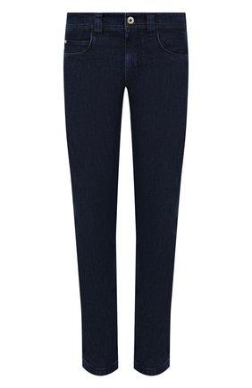 Мужские джинсы LORO PIANA темно-синего цвета, арт. FAF8318 | Фото 1 (Материал внешний: Хлопок, Деним; Стили: Кэжуэл; Силуэт М (брюки): Прямые; Длина (брюки, джинсы): Стандартные)