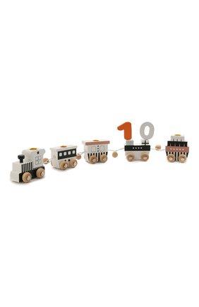 Детского игрушечный паровоз MAGNI черно-белого цвета, арт. 2971 | Фото 2 (Материал: Дерево)
