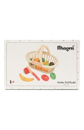 Детского игрушечная корзина с фруктами MAGNI разноцветного цвета, арт. 2504 | Фото 1 (Материал: Дерево)