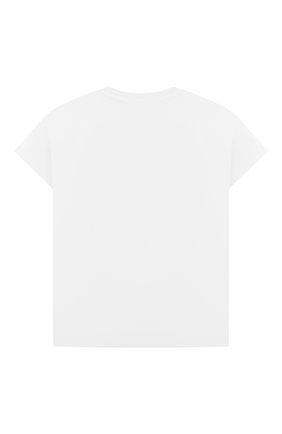 Детская хлопковая футболка KENZO белого цвета, арт. K25098   Фото 2