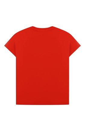 Детская хлопковая футболка KENZO красного цвета, арт. K25110   Фото 2