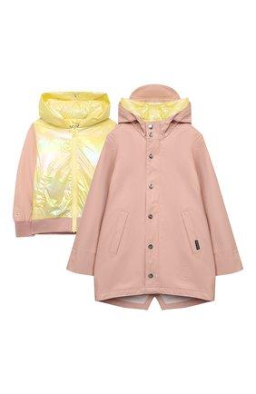 Детский комплект из куртки и дождевика GOSOAKY светло-розового цвета, арт. 211.101.304/MICR0 PU | Фото 1