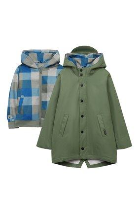 Детский комплект из куртки и дождевика GOSOAKY зеленого цвета, арт. 211.101.304/MICR0 PU | Фото 1