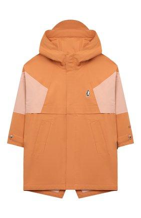 Детский дождевик с капюшоном GOSOAKY оранжевого цвета, арт. 211.101.514/DENSE MICR0 TWILL   Фото 1