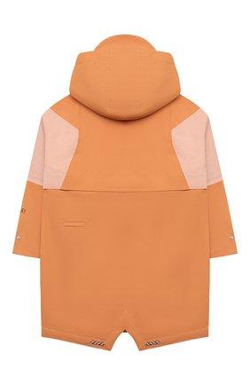 Детский дождевик с капюшоном GOSOAKY оранжевого цвета, арт. 211.101.514/DENSE MICR0 TWILL   Фото 2