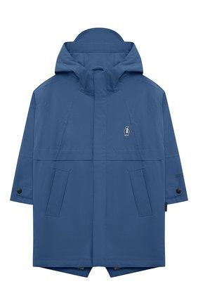 Детский дождевик с капюшоном GOSOAKY синего цвета, арт. 211.101.514/DENSE MICR0 TWILL   Фото 1