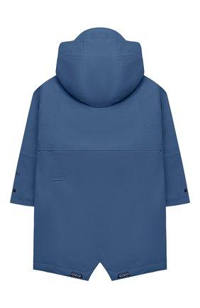 Детский дождевик с капюшоном GOSOAKY синего цвета, арт. 211.101.514/DENSE MICR0 TWILL   Фото 2