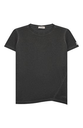 Детская хлопковая футболка PAOLO PECORA MILANO темно-серого цвета, арт. PP2681/8A-12A   Фото 1