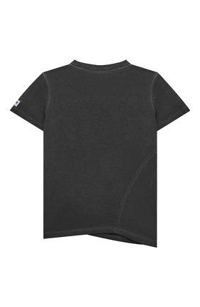 Детская хлопковая футболка PAOLO PECORA MILANO темно-серого цвета, арт. PP2681/8A-12A   Фото 2