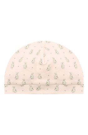 Детского хлопковая шапка LES LUTINS PARIS розового цвета, арт. 21E507/B0NNET LAPIN 21E08 | Фото 1