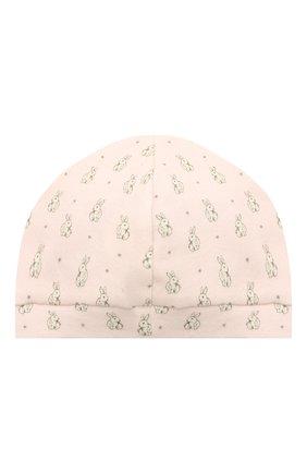 Детского хлопковая шапка LES LUTINS PARIS розового цвета, арт. 21E507/B0NNET LAPIN 21E08 | Фото 2