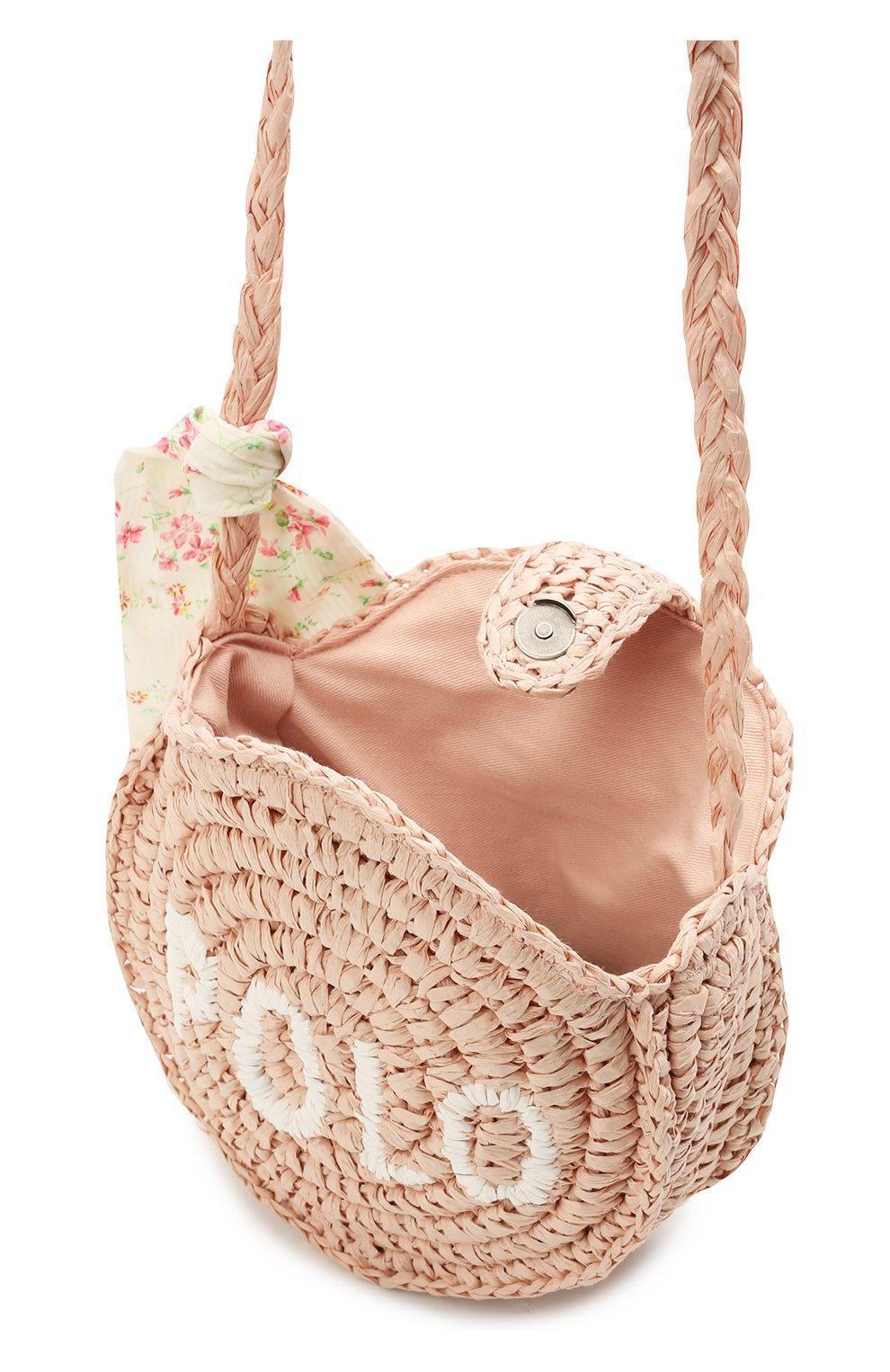 Детская сумка RALPH LAUREN светло-розового цвета, арт. 400836136   Фото 3