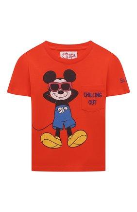 Детская хлопковая футболка MC2 SAINT BARTH оранжевого цвета, арт. STBK EDDY/EDD0001/ECHL81   Фото 1