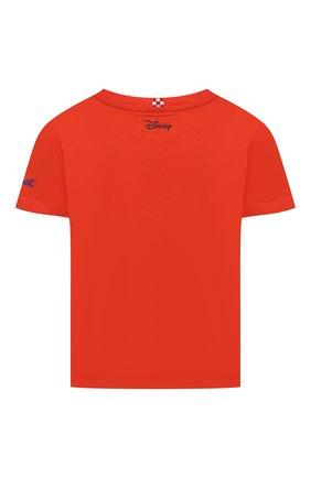 Детская хлопковая футболка MC2 SAINT BARTH оранжевого цвета, арт. STBK EDDY/EDD0001/ECHL81   Фото 2