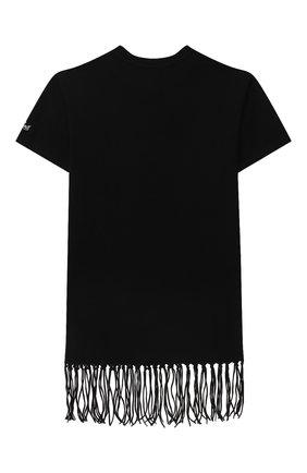 Детское хлопковое платье-футболка MC2 SAINT BARTH черного цвета, арт. STBK ABBEY/ABY0001/MKWK00   Фото 2