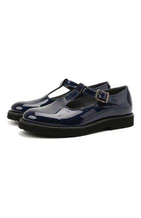Детские кожаные туфли BEBERLIS синего цвета, арт. 21707/31-34 | Фото 1