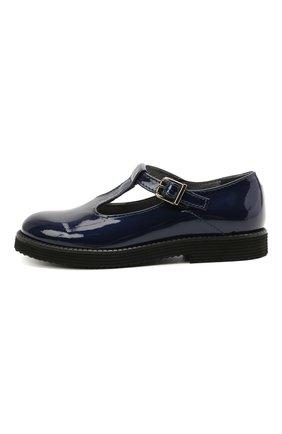 Детские кожаные туфли BEBERLIS синего цвета, арт. 21707/31-34 | Фото 2