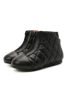 Детские кожаные ботинки AGE OF INNOCENCE черного цвета, арт. 000143/NIC0LE/22-28 | Фото 1