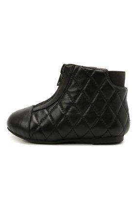 Детские кожаные ботинки AGE OF INNOCENCE черного цвета, арт. 000143/NIC0LE/22-28 | Фото 2