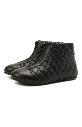 Детские кожаные ботинки AGE OF INNOCENCE черного цвета, арт. 000143/NIC0LE/29-35 | Фото 1