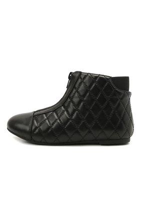 Детские кожаные ботинки AGE OF INNOCENCE черного цвета, арт. 000143/NIC0LE/29-35 | Фото 2