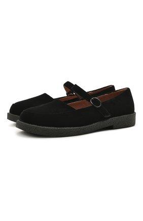 Детские текстильные туфли AGE OF INNOCENCE черного цвета, арт. 000229/ARIA 2.0 (VELVET)/26-32 | Фото 1