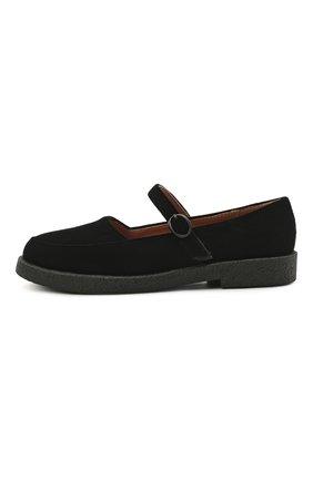 Детские текстильные туфли AGE OF INNOCENCE черного цвета, арт. 000229/ARIA 2.0 (VELVET)/26-32 | Фото 2