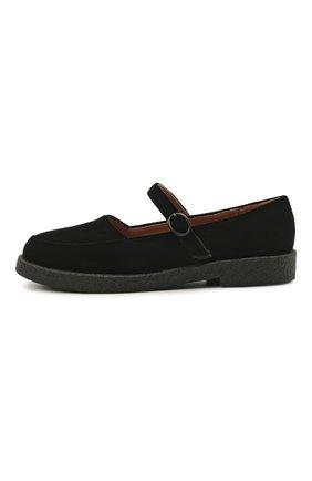Детские текстильные туфли AGE OF INNOCENCE черного цвета, арт. 000229/ARIA 2.0 (VELVET)/33-37 | Фото 2