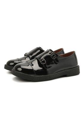 Детские кожаные монки AGE OF INNOCENCE черного цвета, арт. 000231/HUDS0N 2.0/25-31 | Фото 1