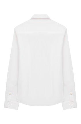 Детская хлопковая рубашка EMPORIO ARMANI белого цвета, арт. 8N4C09/1N06Z | Фото 2
