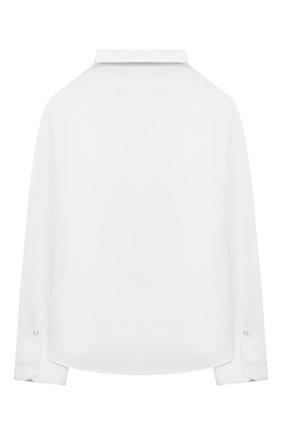 Детская хлопковая рубашка EMPORIO ARMANI белого цвета, арт. 6K4CN5/4N5SZ | Фото 2