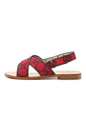 Детские сандалии GUCCI красного цвета, арт. 603854/9SFK0 | Фото 2