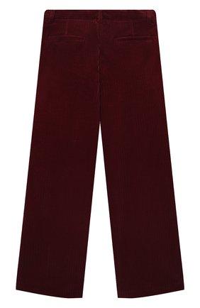Детские хлопковые брюки LORO PIANA бордового цвета, арт. FAL7502 | Фото 2 (Материал внешний: Хлопок; Девочки Кросс-КТ: Брюки-одежда; Ростовка одежда: 10 - 11 лет | 140 - 146см, 12 лет | 152 см, 4 года | 104 см, 6 лет | 116 см, 8 лет | 128 см)