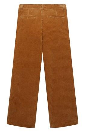 Детские хлопковые брюки LORO PIANA горчичного цвета, арт. FAL7502 | Фото 2 (Материал внешний: Хлопок; Девочки Кросс-КТ: Брюки-одежда; Ростовка одежда: 10 - 11 лет | 140 - 146см, 12 лет | 152 см, 4 года | 104 см, 6 лет | 116 см, 8 лет | 128 см)