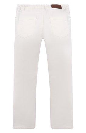 Детские джинсы BRUNELLO CUCINELLI белого цвета, арт. B277PD300B   Фото 2 (Материал внешний: Хлопок; Ростовка одежда: 10 - 11 лет   140 - 146см, 8 лет   128 см)