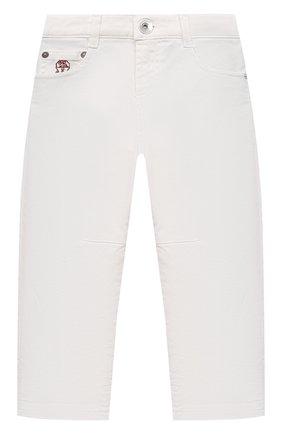 Детские джинсы BRUNELLO CUCINELLI белого цвета, арт. B277PD300A   Фото 1 (Материал внешний: Хлопок; Ростовка одежда: 4 года   104 см, 6 лет   116 см)