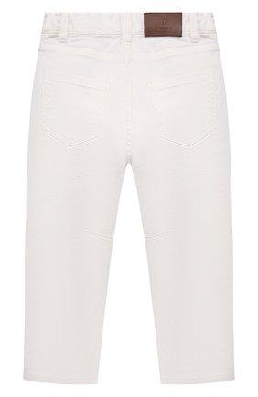 Детские джинсы BRUNELLO CUCINELLI белого цвета, арт. B277PD300A   Фото 2 (Материал внешний: Хлопок; Ростовка одежда: 4 года   104 см, 6 лет   116 см)