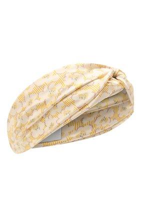Детская шелковая повязка PAADE MODE желтого цвета, арт. 21222534 | Фото 1