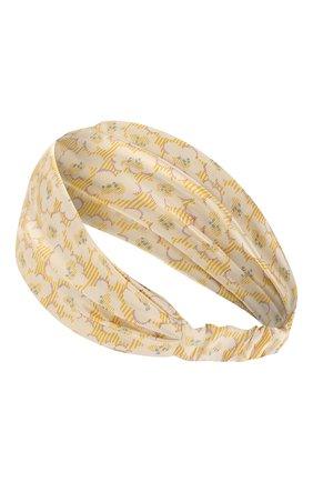 Детская шелковая повязка PAADE MODE желтого цвета, арт. 21222534 | Фото 2
