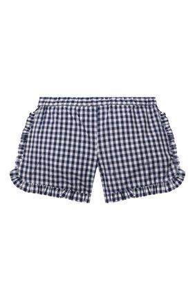 Детские хлопковые шорты SONIA RYKIEL ENFANT синего цвета, арт. 21S1S001   Фото 2