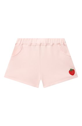 Детские хлопковые шорты SONIA RYKIEL ENFANT светло-розового цвета, арт. 21S1S009   Фото 1