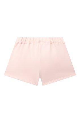 Детские хлопковые шорты SONIA RYKIEL ENFANT светло-розового цвета, арт. 21S1S009   Фото 2