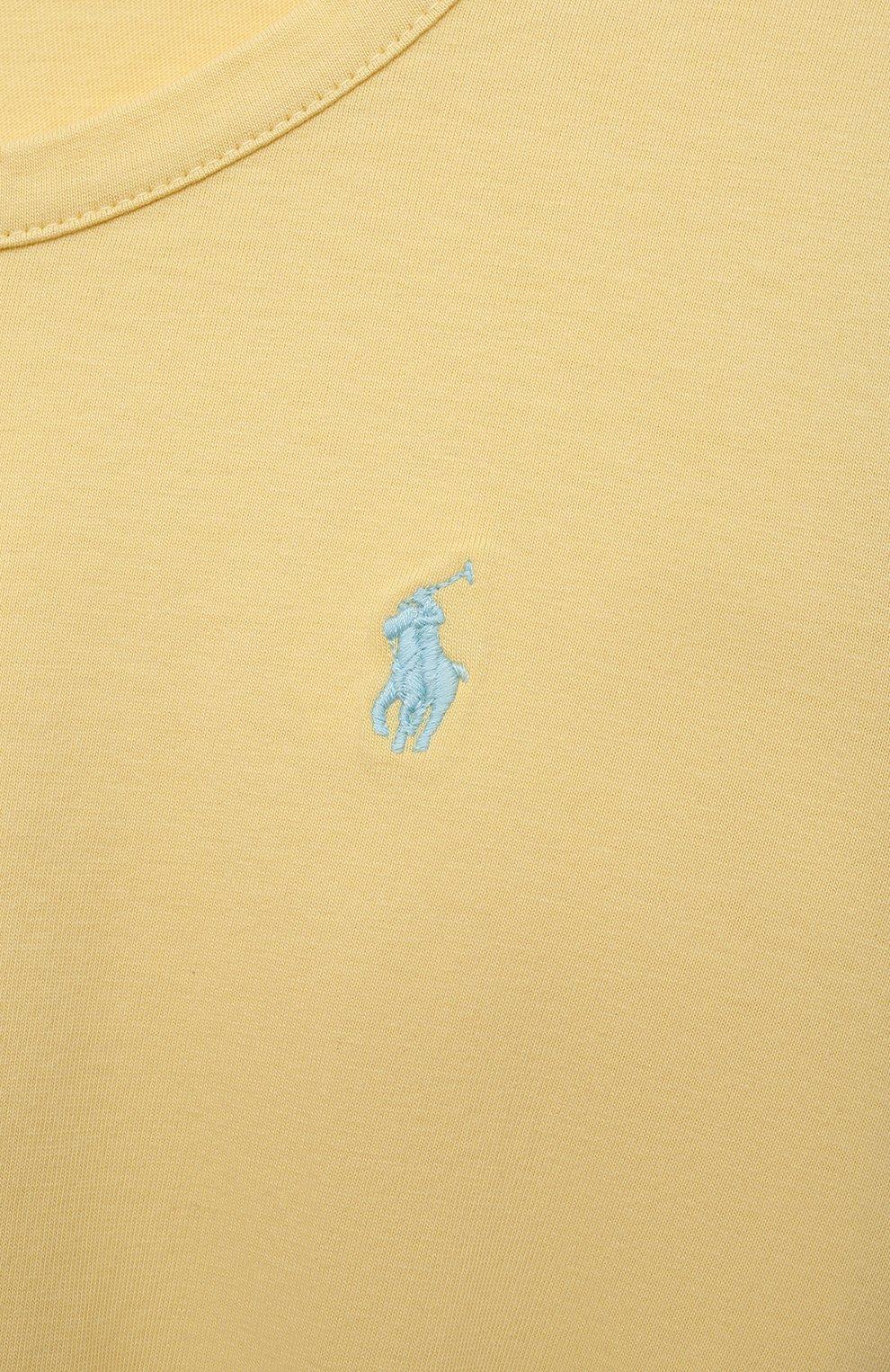 Детское хлопковое платье POLO RALPH LAUREN желтого цвета, арт. 313837203 | Фото 3 (Рукава: Короткие; Случай: Повседневный; Материал внешний: Хлопок; Девочки Кросс-КТ: Платье-одежда; Ростовка одежда: 12 лет | 152 см, 9 лет | 134 см, 8 лет | 128 см)