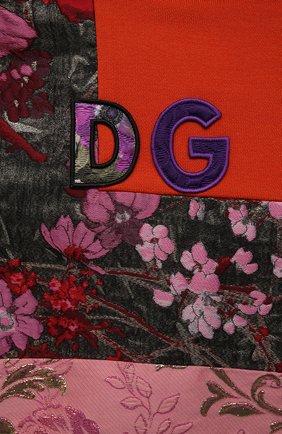 Детское платье DOLCE & GABBANA разноцветного цвета, арт. L5JD2M/G7YPV/2-6   Фото 3 (Рукава: Длинные; Случай: Повседневный; Материал внешний: Синтетический материал, Хлопок; Девочки Кросс-КТ: Платье-одежда; Материал подклада: Хлопок; Ростовка одежда: 2 года   92 см, 3 года   98 см, 4 года   104 см, 5 лет   110 см, 6 лет   116 см)